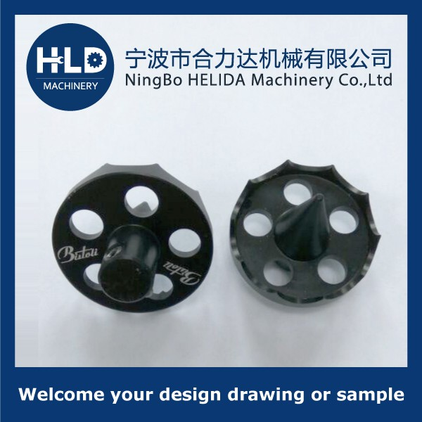 Aluminium machined parts with black anodizing