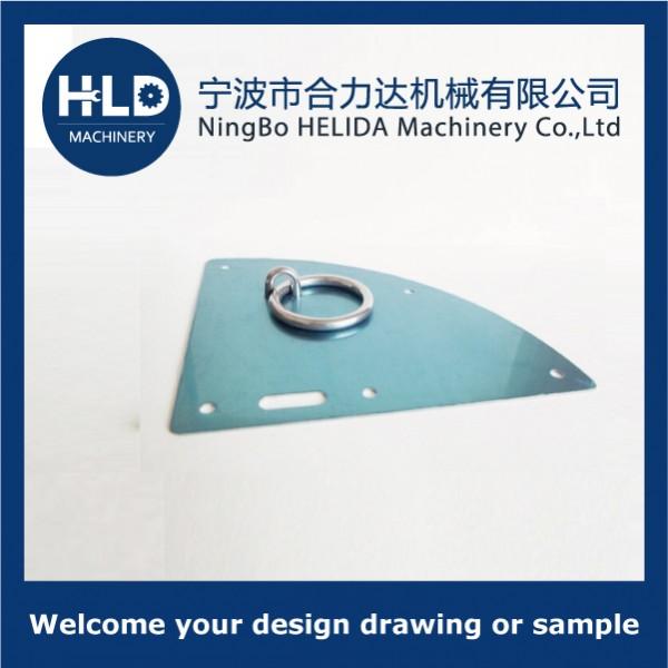 Door plate with ring